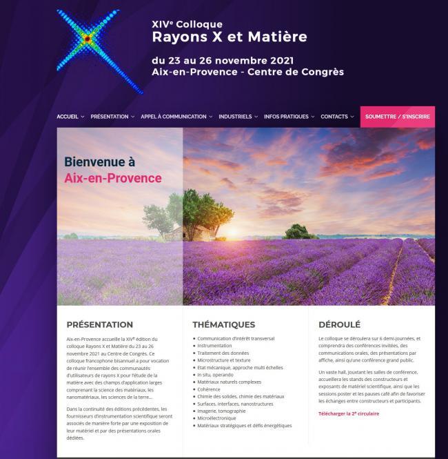 conference Rayons X et Matière 2021 | Laboratoire MSMP